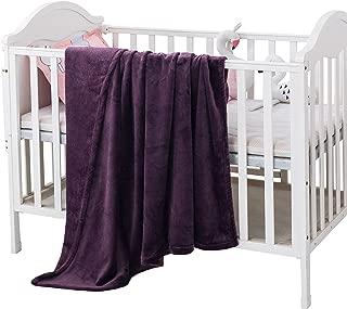 Style Basics Silky Soft Thick Plush Baby Crib Blanket (Plum Purple, Crib Blanket 46 X 34)