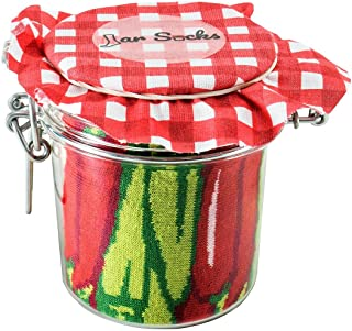 JAR SOCKS - 2 pairs of socks: Peppers and Pea in a PVC Jar Unisex Funny Gift!