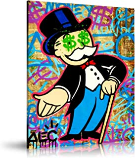 Newartprint ALEC Monopoly HD Printed Oil Paintings Home Wall Decor Art On Canvas Monopoly Hand Out Eyes 24x32inch Unframed