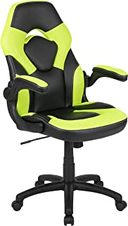 Flash Furniture X10 Gaming Chair Racing Office Ergonomic Computer PC Adjustable Swivel Chair with Flip-up Arms, Neon Green...