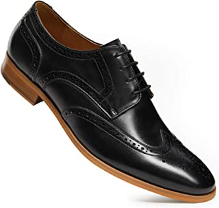 Sponsored Ad - ALIPASINM Men 's Dress Shoes Lace up OxfordsFormal Genuine Leather Shoes for Men