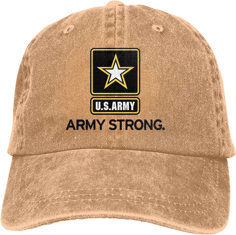 Baseball Cap U.S. Ar-My Logo Adjustable Retro Sun hat Cowboy Sports Cap