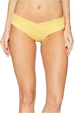 Costa Del Sol Ribbed High Leg Moderate Back Bottom