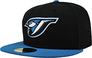 New Era 59Fifty Hat MLB Toronto Blue Jays Black/Cardinal Blue Fitted Cap