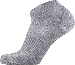 Pure Compression Walking Socks - Comfortable Padded Walking Socks - Use for Jogging, Running, Working Out, Unisex Mens, Grey, Small