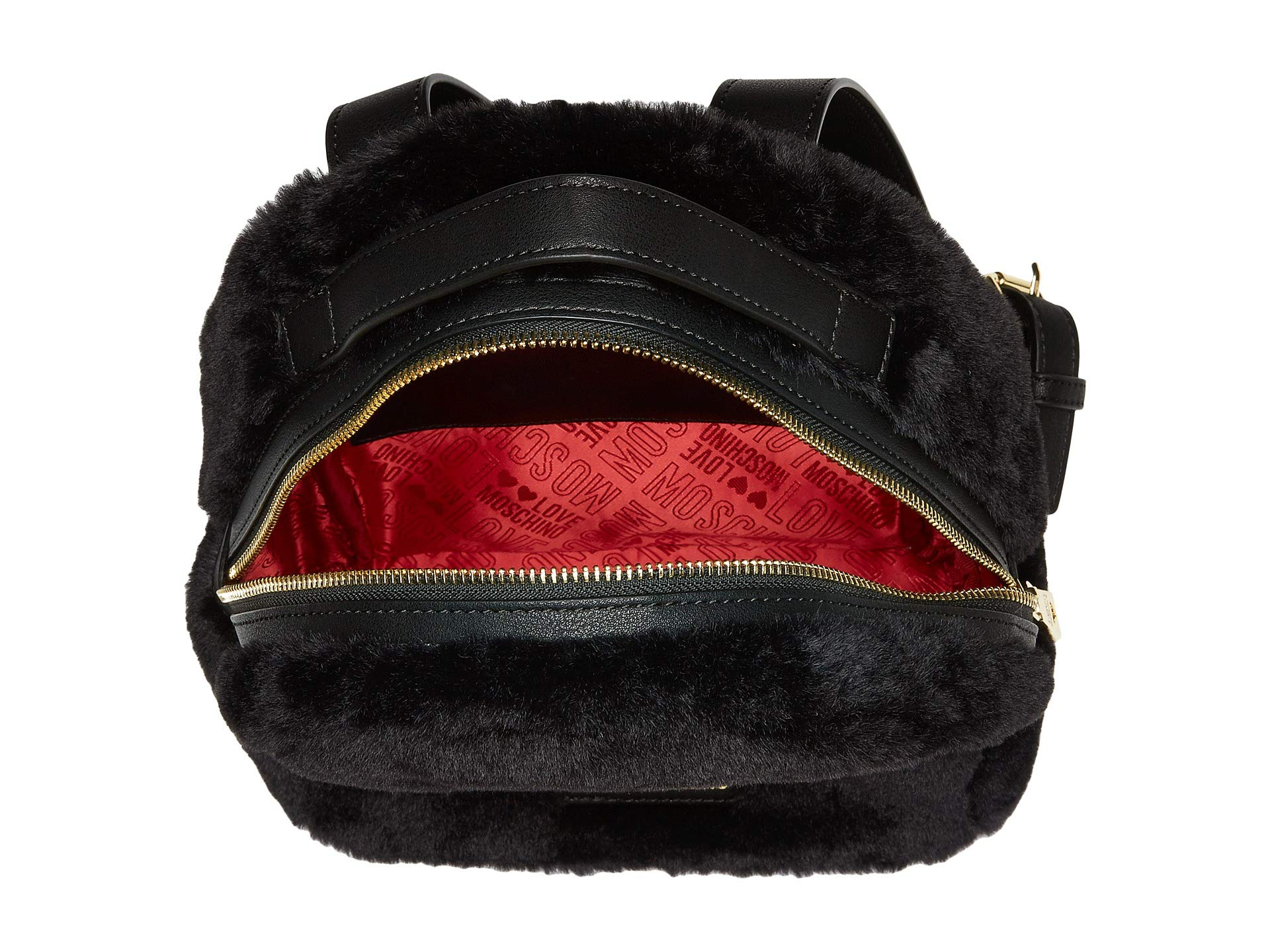 Love Moschino Faux Fur Backpack W Heart Design At Piper Leather