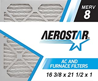 16 3/8x21 1/2x1 Carrier Replacement Filter by Aerostar - MERV 8, Box of 12