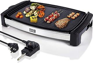 Barbecue électrique de table électrique avec TÜV & GS 2200 W   4-8 personnes – Grill de table Teppanyaki d'intérieur XXL  ...