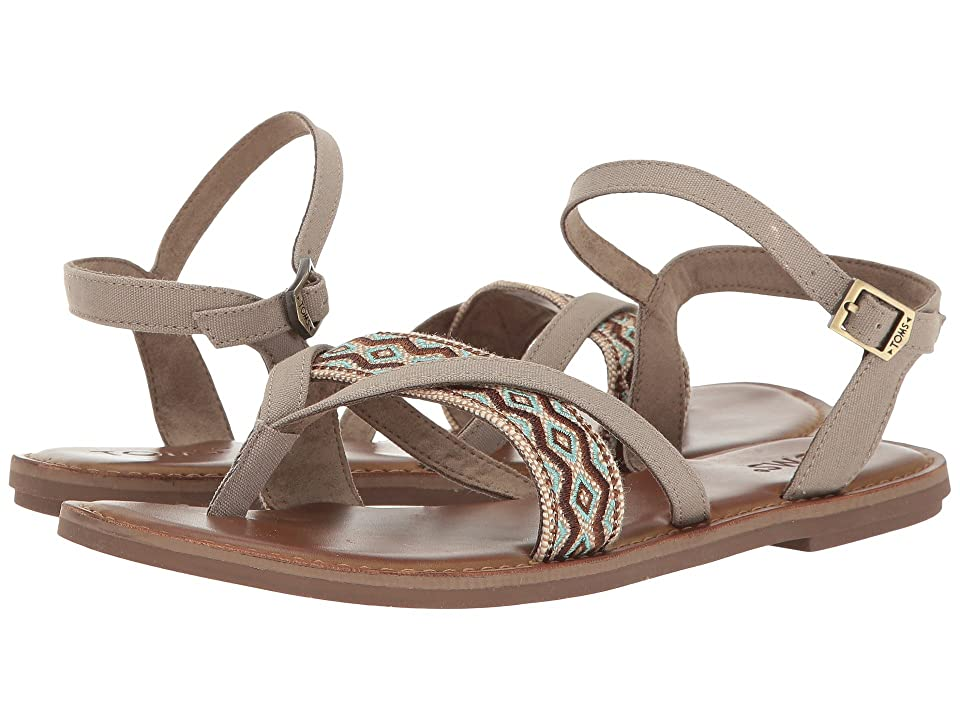 TOMS Lexie Sandal (Desert Taupe Canvas/Embroidery) Women
