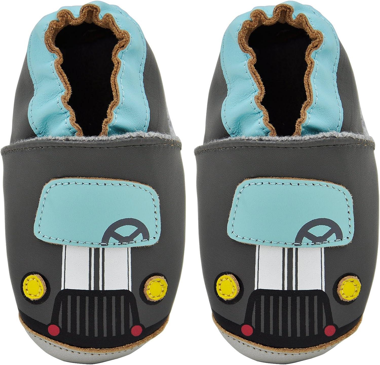 Kai Baby Boys Lambskin Leather Soft Sole Shoes Kimi Tiger