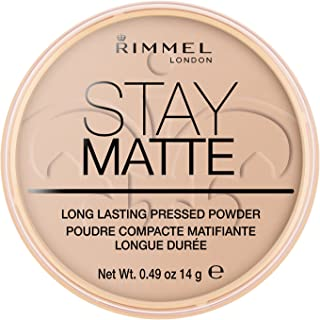 Rimmel London Stay Matte Pressed Powder, Silky Beige, 0.3oz (8.5 g)