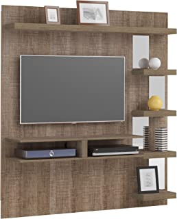 Artely MDF/MDP Premium Wall Panel for 50 inch TV, Cinnamon, H180 x W35 x D166.5 cm, Require Assembly
