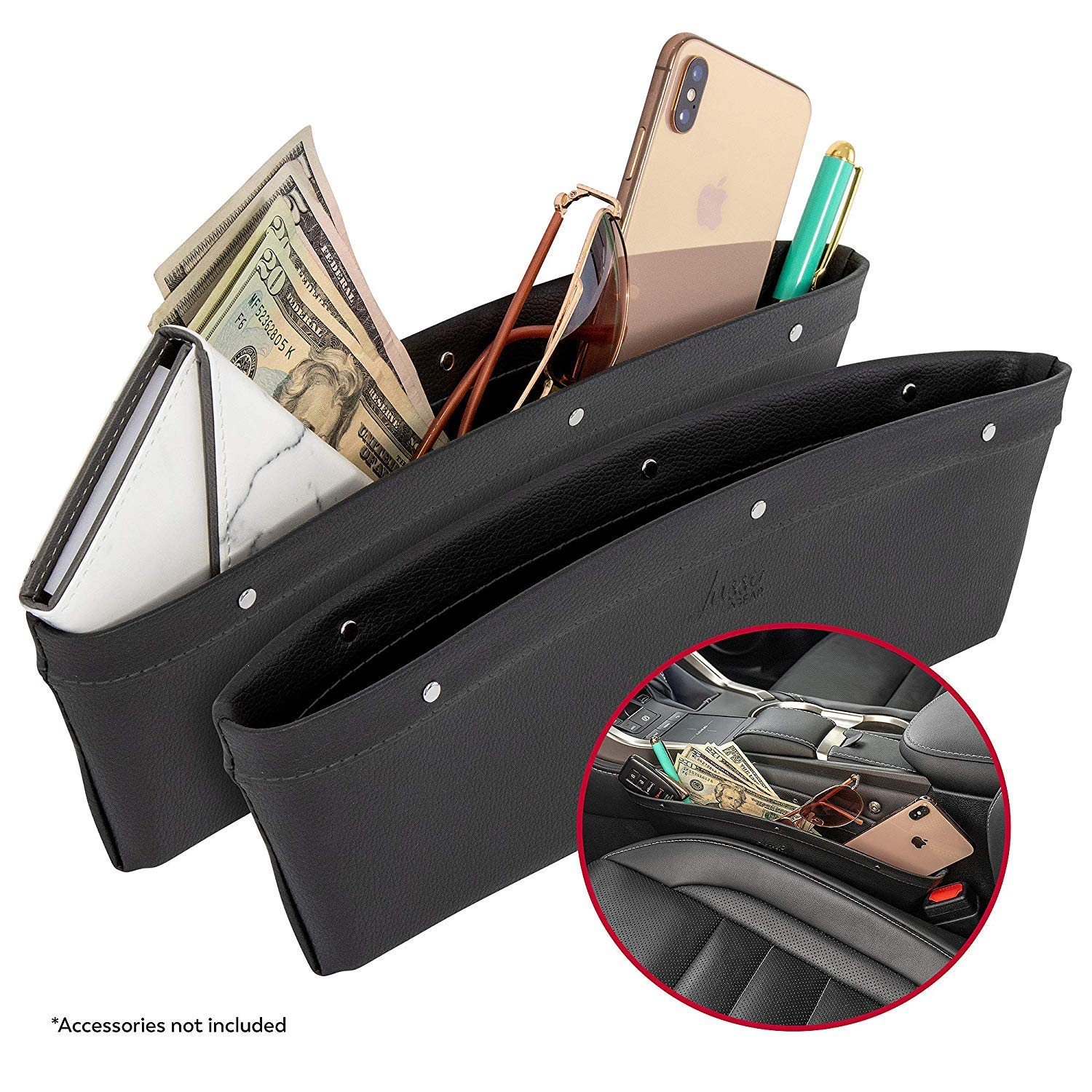 Lusso Gear Car Front Seat Organizer Mobile//Car Office Organizer Fits Any Car//Truck Storage for Laptop//iPad//Office Supplies /& More Strong /& Durable Also for Law Enforcement//Police//Patrol Bag