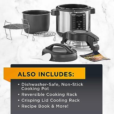 Crock-pot SCCPPA800-V1 Express Crisp 8-Quart Pressure Cooker Includes Air Fryer Lid, Stainless Steel