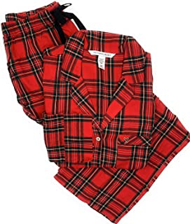 Victoria's Secret Women's Lightweight Cotton Flannel Pajamas Red Plaid X-Large/R