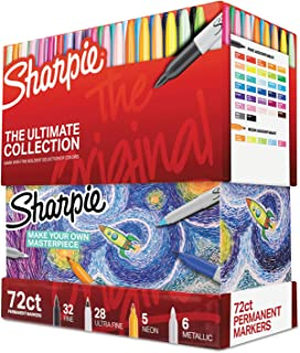 Sharpie Permanent Markers Ultimate Collection, Assorted, 72 Pcs (SAN1983254)