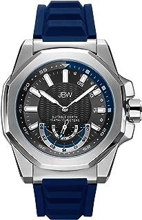 JBW Mens Quartz Watch, Analog Display and Silicone Strap J6359C