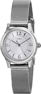 Timex Women's Quartz Watch, Analog Display and Stainless Steel Strap T2P457
