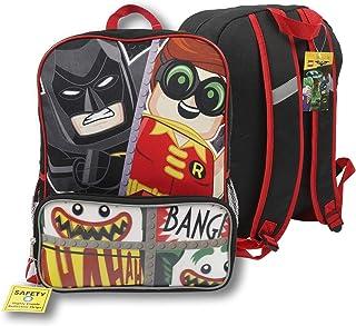 DC Comics Lego Batman Boys' Large Cordura Backpack, Multicolor