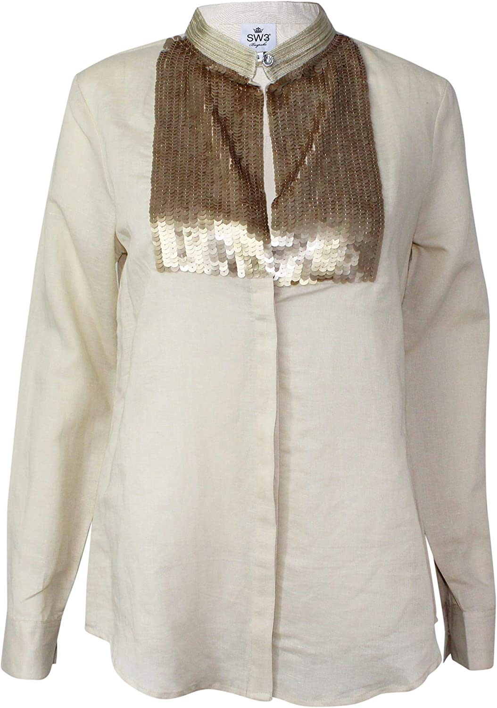 SW3 Bespoke Women's Linen Blouse (Tan)