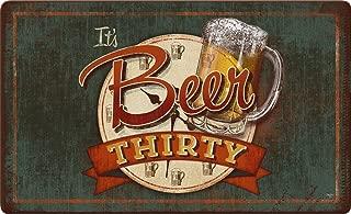 Toland Home Garden It's Beer Thirty 18 x 30 Inch Decorative Happy Hour Floor Mat Funny Party Doormat
