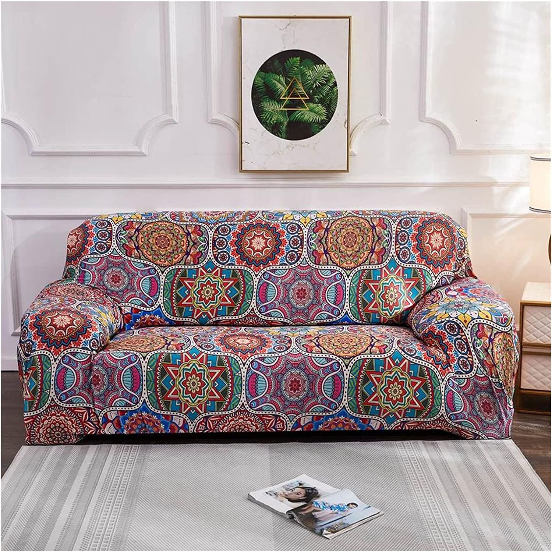 Geometric Colorful Printing Sofa Slipcovers Max 45% Super intense SALE OFF Anti-D Cover Elastic