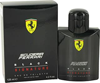 Ferrari Scuderia Signature Eau de Toilette Spray for Men, Black, 4.2 Fluid Ounce