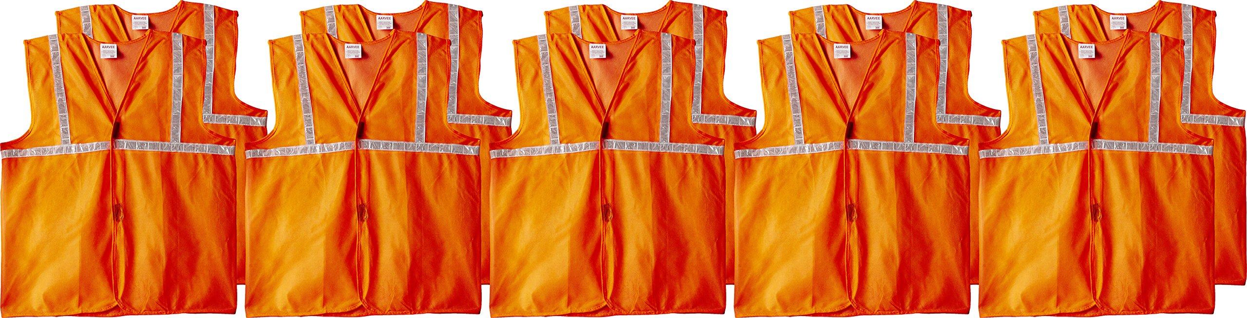 "Aarvee Safety Jacket Cloth 50 gsm 1"" Reflective Tape - Orange (Pack of 10)"