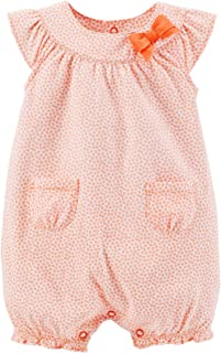 Baby Girls' Print Bubble Romper (Baby) - Coral - 3 Months