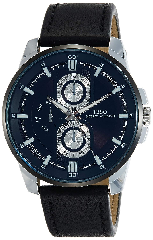 IBSO Analog Black Dial Men's Watch   S8241Gbk Men