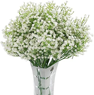 Homcomoda Artificial Flowers Babies Breath Flowers Fake Gypsophila Plants Bouquets for Wedding Home DIY Decoration (A-Whit...
