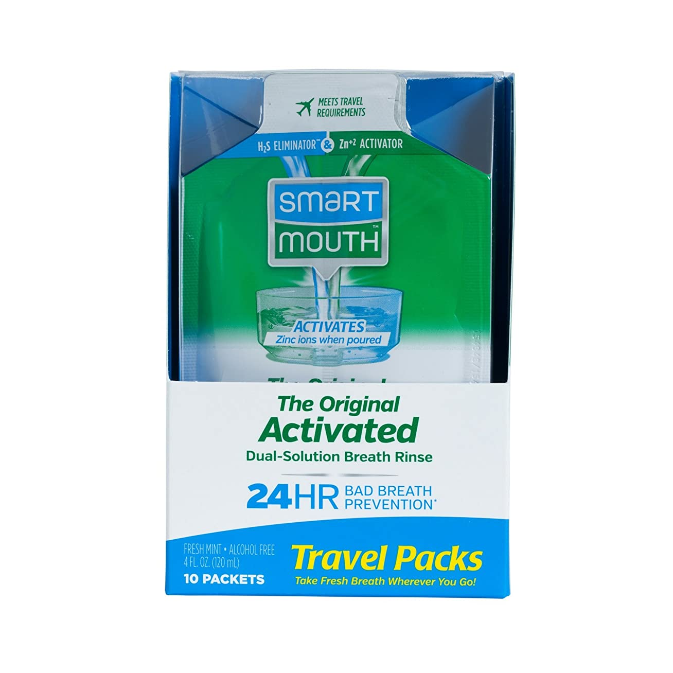 る稼ぐ恐竜SmartMouth Mouthwash Packets, Clean Mint, 10 Count by SmartMouth