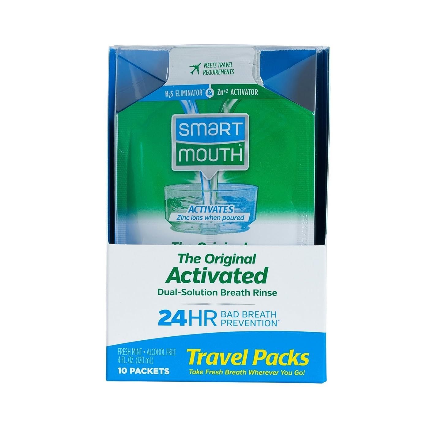 芸術的発見するマトンSmartMouth Mouthwash Packets, Clean Mint, 10 Count by SmartMouth