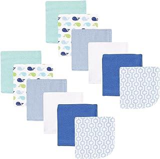 Luvable Friends 12 Piece Washcloth, Boy Whale