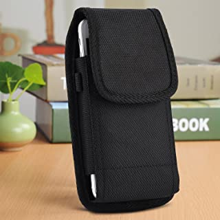 EpicDealz Compatible SAMSUNG Galaxy S9 Plus S8 Plus , GALAXY NOTE 5 , NOTE 4 , J7, S7 Edgle Plus S6 edge+ 5.7'' screen Plus Size Pouch Case Rugged Holster Nylon Cover with Duty Metal Clip