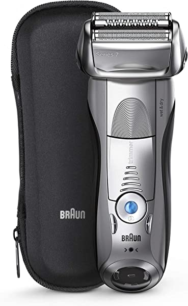 Braun Series 7 Electric Shaver For Men 7893s Wet Dry Integrated Precision Trimmer Rechargeable And Cordless Razor With Travel Case Silver