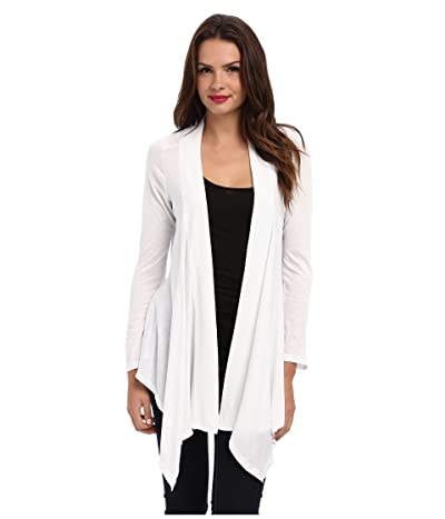 Splendid Exclusive Very Light Jersey Drape Cardigan (White) Women