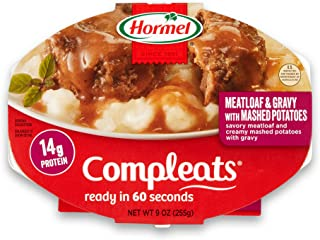 Hormel Compleats Meatloaf & Gravy with Mashed Potatoes, 9 Ounce