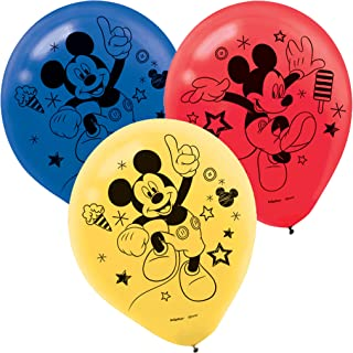 amscan Mickey Mouse Party Supplies On The Go Latex Balloons (6)