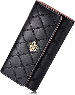 Women's wallet Elegant Clutch Crown Wallet Long Purse Leather Wallet