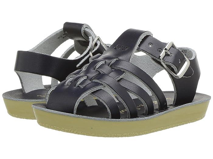 Salt Water Sandal by Hoy Shoes  Sun-San - Sailors (Infant/Toddler) (Navy) Kids Shoes