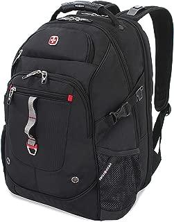 SWISSGEAR 6968 SCANSMART TSA FRIENDLY WORK SCHOOL and TRAVEL LARGE LAPTOP BACKPACK - BLACK/RED