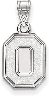 Ohio State University Buckeyes School Letter Logo Pendant in Sterling Silver 13x10mm