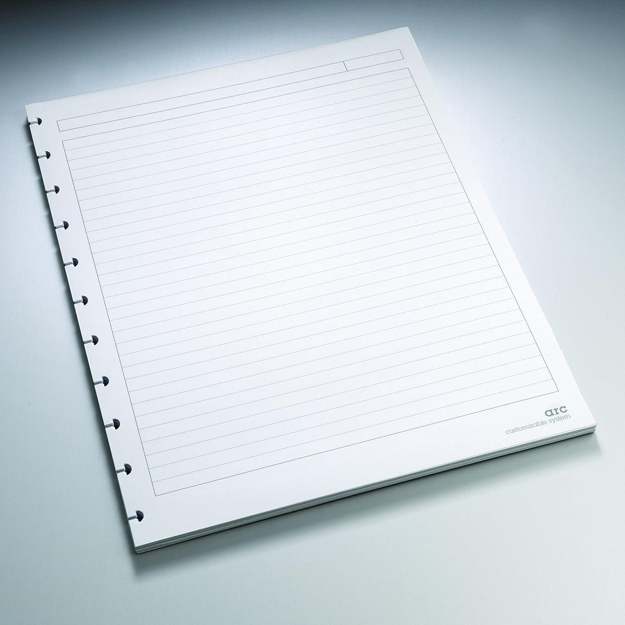プール十素晴らしきStaples. Arc Notebook Filler Paper, Letter-size, Narrow-Ruled, White, 22cm x 28cm, 50 Sheets