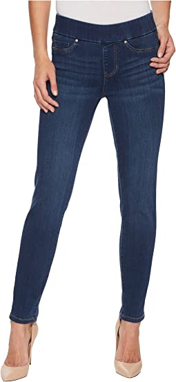 Liverpool - Meredith Ankle Slim Pull-On in Silky Soft Denim in Elysian Dark