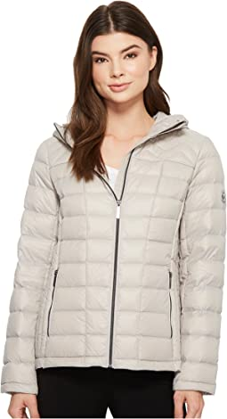 MICHAEL Michael Kors Zip Front Hooded Packable M823394F