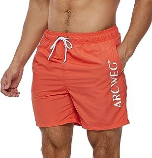 Arcweg Men's Swim Trunks Quick Dry Mens Board Shorts Surfing Stretchy Adjustable Drawstring Beach Shorts Breathable Swimmi...