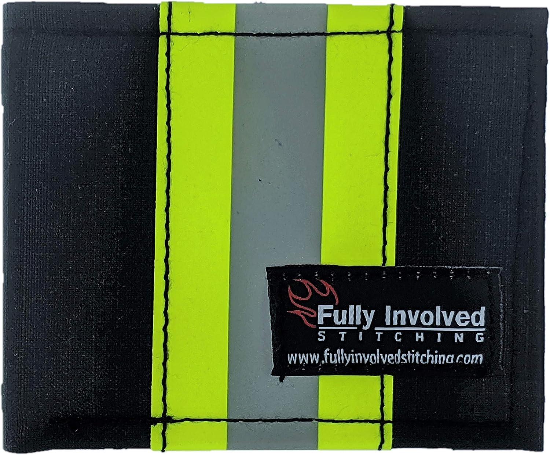 Firefighter Personalized Black Bunker Gear Captain Wallet