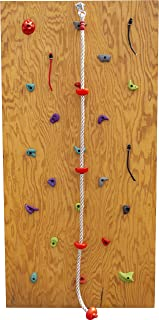 Slackers DIY Rock Climbing Wall Kit w/ Climbing Rope | Rock Wall | Obstacle Course Wall | Rock Climbing Playset