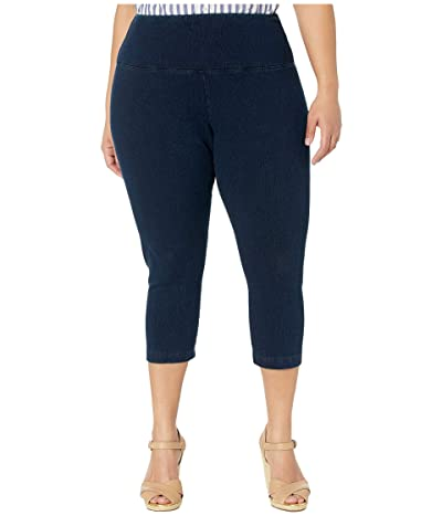 Lysse Plus Size Denim Capri (Indigo) Women